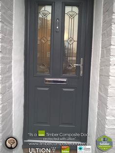 Solidor Timber Composite Doors with Ultion Locks Solidor Timber Composite Doors 12 Months Interest Free Credit Real Pictures, Real Homes, Real Doors, Real Solidor a small selection of fitted Solidor Timber Composite Doors installed and fitted by ourselves throughout the UK. Design yours online at our site below #solidor #compositedoors #compositedoors #frontdoors With #ultion #ultionlocks as standard #solidor Green Front Doors, Modern Front Door, Front Door Design, Victorian Front Doors, Composite Front Door, Smart Door Locks, Door Images, Cottage Door, House Front