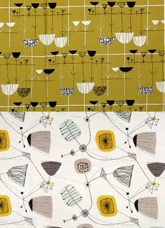 1950s fabric pattern
