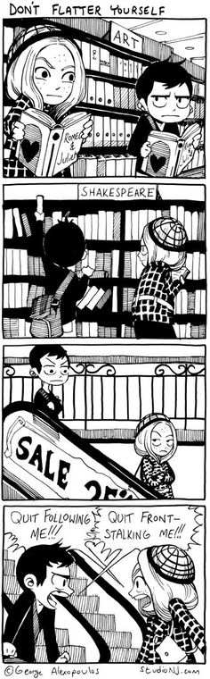So I guess it's called front stalking.  This guy's art is wonderful.  Somewhat of a mix between manga and western comics.  I like the ink style and how he arranges the blacks and whites.