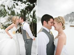 snow covered wedding goodness....always wanted to get married in the snow! So glad I'm in Texas now : )