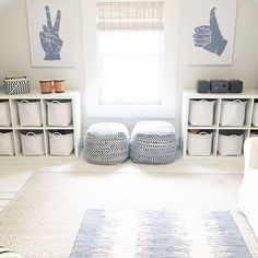 My kids have outgrown the need for a playroom (sadly) but how cute is this space??? I ❤️the color choices, simple organization, and trendy artwork!  @thepicketfenceprojects