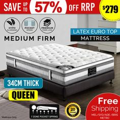 Experience ultimate comfort and plush feel with the premium quality cushioning of our PET Mattress. The premium quality knitted fabric covering provides an inviting look and gives your mattress a smooth and silky softness. Euro Top Mattress, Cheap Mattress, Queen Mattress, Best Mattress, Latex, King Single Bed, Fitted Bed Sheets, Memory Foam Mattress Topper, King Sheet Sets