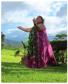 The beautiful Kumu dancing the Hula for the healing and love of the Aina.