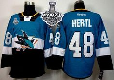 a04d54ef6 Sharks  48 Tomas Hertl Teal Black 2015 Stadium Series 2016 Stanley Cup Final  Patch Stitched NHL Jersey  nhljerseyscheap  whomakesnhljerseys ...