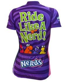 Nestle Nerds Candy Women's Cycling Jersey - back view - FREE shipping in the US at http://www.cyclegarb.com/brainstorm-gear.html
