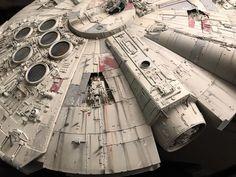 My Bandai Perfect Grade Millennium Falcon -finished! Star Wars Boba Fett, Star Wars Clone Wars, Star Wars Art, Lego Star Wars, Star Trek, Milenium Falcon, Millennium Falcon Model, Perfect Grade, Star Wars The Old