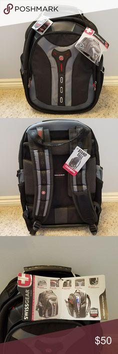 """SwissGear Pegasus Computer Backpack From the maker of the genuine Swiss Army Knife. This backpack has 2 large compartments (one for books, the another holds a 17"""" laptop), front compartment for personal items, and 2 side zippered pockets. Shock absorbing shoulder straps. New and unused. Wenger Other"""