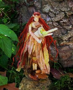 Mabon Goddess Corn Dolly. Handmade Altar Figure. Pagan Wiccan Thanksgiving Decoration.