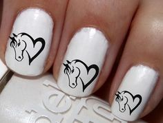 """#SALE #NAILS #COUPON Code """"PINTEREST"""" Saves You 15% Off 50pc Love Horse Heart Horses Nail Decals Nail Art Nail Stickers Best Price NC804"""