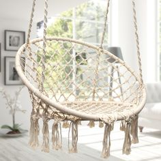 International Sorbus Hammock Chair Macrame Swing 265 Pound Capacity White Patio Furniture (  sc 1 st  Pinterest & Affordable Hanging Chair For Bedroom Ikea Cool Hanging Chairs For ...