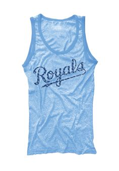 The sun won't hold you back when you wear this Kansas City Royals Womens Contrast Tank Top! Rally House has a great selection of new and exclusive Kansas City Royals t-shirts, hats, gifts and apparel, in-store and online. Team Wear, Kansas City Royals, Royal Fashion, Sleeveless Shirt, Sport Outfits, Clothes For Women, Tank Tops, My Style, Contrast