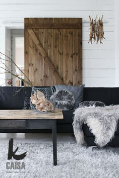 Love, love, love the sliding barn door.