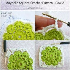 Square Crochet - Tutorial ❥ 4U // hf