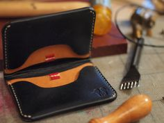 Oliver Double Flip Cardholder Wallet Warm Black Autumn by Elbeware