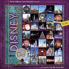 Disneyland scrapbook; layout by banderson