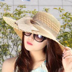 Ladies Summer Sun Beach Floral Hat Brim Straw Formal Wedding Women 495 Clearance