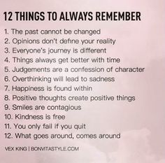 Rules to life a happier and fulfilling life