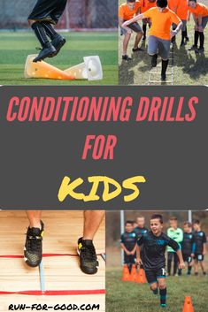 Doing some of these conditioning drills for kids at sports practices can help them improve their speed, strength, reaction time, and more. #kidsfitness #kidsexercises #conditioningdrills #sportsconditioning #runningdrills #kidsrunning Running Drills, Running Club, Kids Running, Soccer Drills, Basketball, Crossfit Kids Workouts, Football Workouts, Workout Warm Up, Track Workout