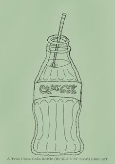 https://flic.kr/p/CUDWwp | A True Coca-Cola Bottle LineArt | Partly inspired of a tutorial of drawing with markers in a book. i made this painting in about a hour.  Coca-Cola belongs to The Coca-Cola Company   I didn´t had any commercial reasons to do this, just as a tribute from a fan.