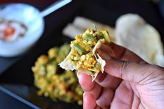 Skillet Fried Okra in Chickpea Flour - Cookilicious - Skillet Fried Okra in Chickpea Flour is a simple curry using lots of Indian flavors and cooked in very little oil. Its vegetarian and gluten free. Chickpea flour when mixed with Okra, it gives this curry a better taste.
