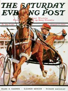 Saturday Evening Post - 1935-08-17: Harness Race (Maurice Bower)