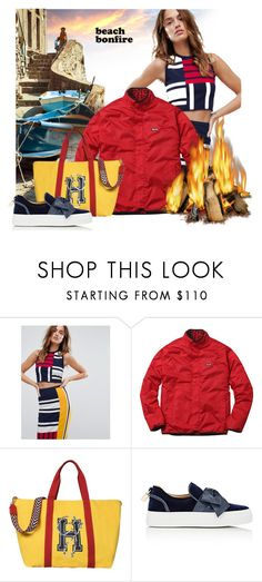 """""""Fire"""" by interesting-times ❤ liked on Polyvore featuring Tommy Hilfiger, BUSCEMI and beachbonfire"""