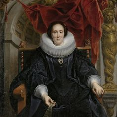 Portrait of Catharina Behaghel, Jacob Jordaens (I), 1635 - Rijksmuseum