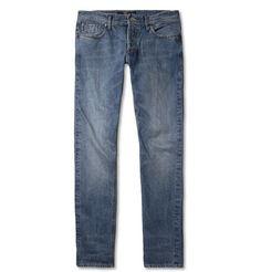 NN.07 James Slim-Fit Selvedge Washed-Denim Jeans | 225