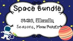 This bundle includes all my space items up to this point. You can purchase this bundle, or the individual items are for sale in my store, as well. Below, you will find detailed information on what you will receive upon purchase-Posters, Task Cards, Assessments, and Morning Work-along with how you can utilize each (or other uses) in your classroom! 1.Space Poster Bundle- Planets, Stars, Seasons, Moon PhasesThis bundle includes the three mini packs I have created for my space unit.