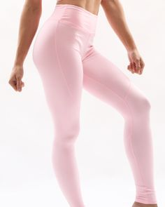 pale pink seamless leggings fitgal Slim Body, Seamless Leggings, Workout Leggings, Pale Pink, Wardrobe Staples, Activewear, Style, Swag, Essential Wardrobe