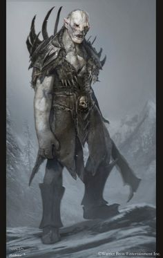 azog from the Hobbit concept art. They have the books on all the art and stuff that do for that hobbit and i would highly recommend anyone who is interested in concept work to check it out. Called the Hobbit chronicles, at and design. Hobbit Tolkien, O Hobbit, Lotr, Medieval Fantasy, Dark Fantasy, Fantasy Art, Character Concept, Character Art, Concept Art