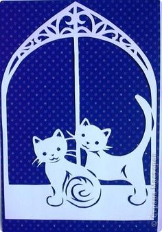 Котята Вытынанка Paper Cutting Patterns, Paper Cutting Templates, Paper Lampshade, Lampshades, Kirigami, Laser Art, Scroll Saw, Origami Paper, Paper Crafts