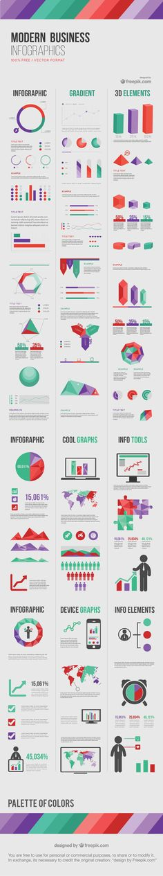 "Business infographic & data visualisation Freebie Release: ""Modern Business"" Infographic Elements Infographic Description The landscape of business is Cv Inspiration, Graphic Design Inspiration, Creative Inspiration, Layout, Pag Web, Graphisches Design, Graph Design, Design Elements, Design Trends"