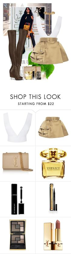 """""""OOTD #5"""" by ionara ❤ liked on Polyvore featuring Balmain, Dion Lee, Marc Jacobs, Yves Saint Laurent, Givenchy, Versace, Elizabeth Arden and Eddie Borgo"""