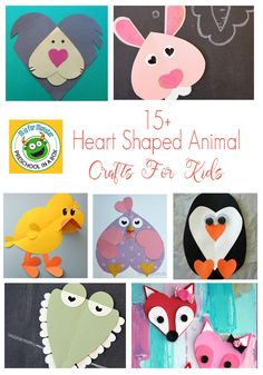 Animal Crafts Made With Hearts - Fun Valentine Crafts For Kids