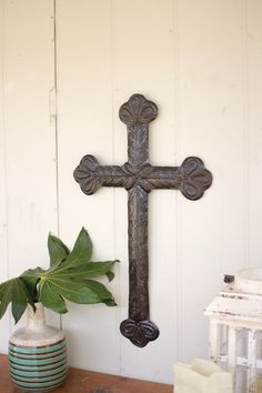 Hand Hammered Recycled Metal - Sister Clara's Cross $64.99  #decor #homedecor #furniture #home #homefurnishings #furnishings