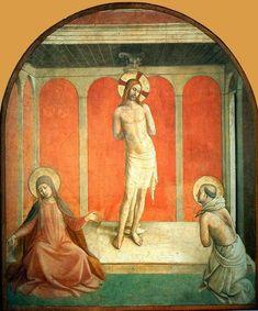 FLAGELLAZIONE DI CRISTO - Beato Angelico - affresco - 1442 - convento di San Marco (Firenze)