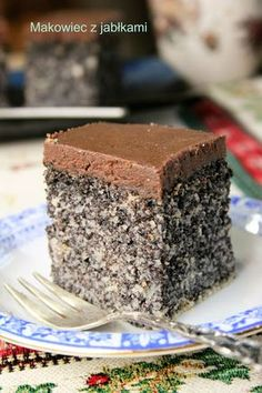Poppy-seed cake with apples (poppy Japanese) Polish Desserts, Polish Recipes, Cookie Desserts, Chocolate Desserts, Cookie Recipes, Homemade Cake Recipes, Best Cake Recipes, Sweet Recipes, Poppy Seed Cake