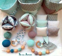 Balle de préhension d'inspiration Montessori, hochet, coussins tactiles, anneau de dentition, fait main Fée au Marais