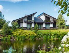 Двухэтажный дом в коттеджном поселке от компании «АРХИ ТЕ КТО» | Архитектурные проекты | Журнал «Красивые дома»