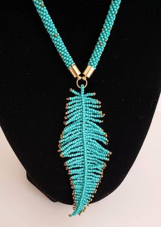 Beaded Necklace, Handmade Necklace, Guatemala Jewelry, Bohemian Necklace, Leaf N. Teal Necklace, Bohemian Necklace, Boho Necklace, Indian Necklace, Strand Necklace, Crystal Necklace, Bead Jewellery, Boho Jewelry, Jewelry Gifts