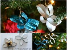 Paper Towel Tube Stars | 36 Adorable DIY Ornaments You Can Make With The Kids