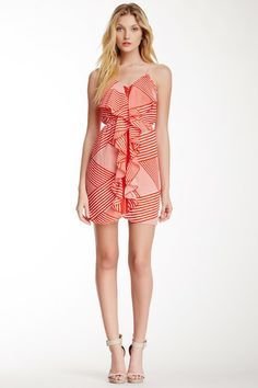 Cascading Printed Dress by Pink Owl on @HauteLook