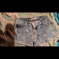 NWOT Vintage Havana Boardwalk Fringe Shorts NWOT Vintage Havana Faded Blue Fringe Shorts. I bought them at a boutique on the Jersey Shore but never wore them. Would look fantastic with a netted style beach crop cover top over a bathing suit with your favorite flops. Vintage Havana Shorts Jean Shorts