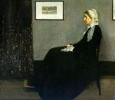 Arrangement in Grey and Black (The Artist's Mother), Whistler, 1871, Musée d'Orsay, Paris
