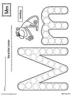 Letter M Do-A-Dot Worksheet Worksheet.The Letter M Do-A-Dot Worksheet is perfect for a hands-on activity to practice recognizing the letters of the alphabet and differentiating between uppercase and lowercase letters. Preschool Letter M, Letter M Crafts, Letter M Activities, Preschool Lessons, Preschool Worksheets, Kindergarten Activities, Fluency Activities, Coloring Worksheets, Letter M Worksheets