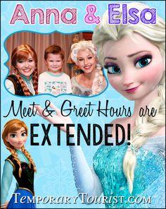 Anna and Elsa at Magic Kingdom hours have been extended #WDW #Frozen #WaltDisneyWorld #MagicKingdom