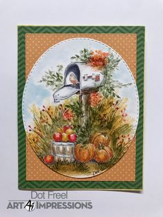 Art Impressions Stamps, Autumn Painting, Watercolor Design, Fall Cards, Watercolours, Handmade Cards, Stamping, Card Ideas, Projects To Try