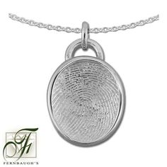 Sterling Silver Circle, or 14K White Gold - 17mm Fingerprint w/Mail - (Sterling Silver includes chain, 14K White gold does not include chain) $199.99 Fingerprint Jewelry, White Gold, Pendant Necklace, Sterling Silver, Chain, Drop Necklace, Chain Drive