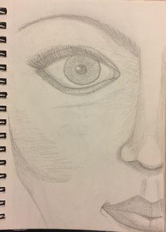Half face; eye feature